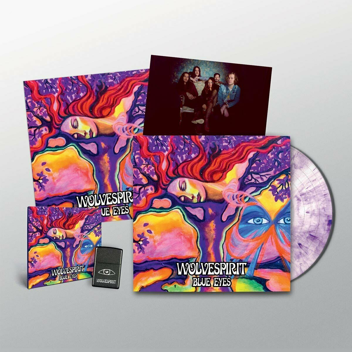 Blue Eyes Limited Deluxe Box Set Vinyl LP von WolveSpirit 180g Purple